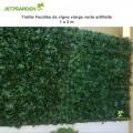 Treillis feuille de vigne vierge verte artificielle 1 x 2 m
