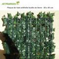 Haie artificielle feuille lierre en plaque 1 m²