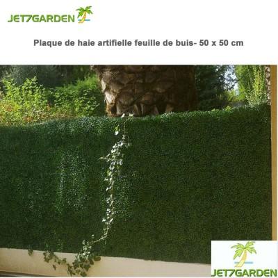 Haie artificielle feuille buis en plaque 1 m²