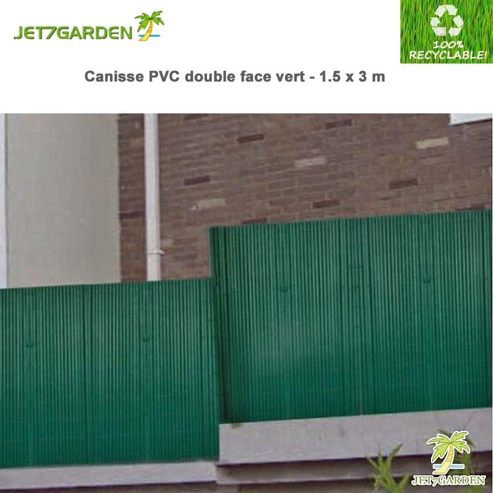 canisse pvc vert double face x 3 m j7gcv150. Black Bedroom Furniture Sets. Home Design Ideas