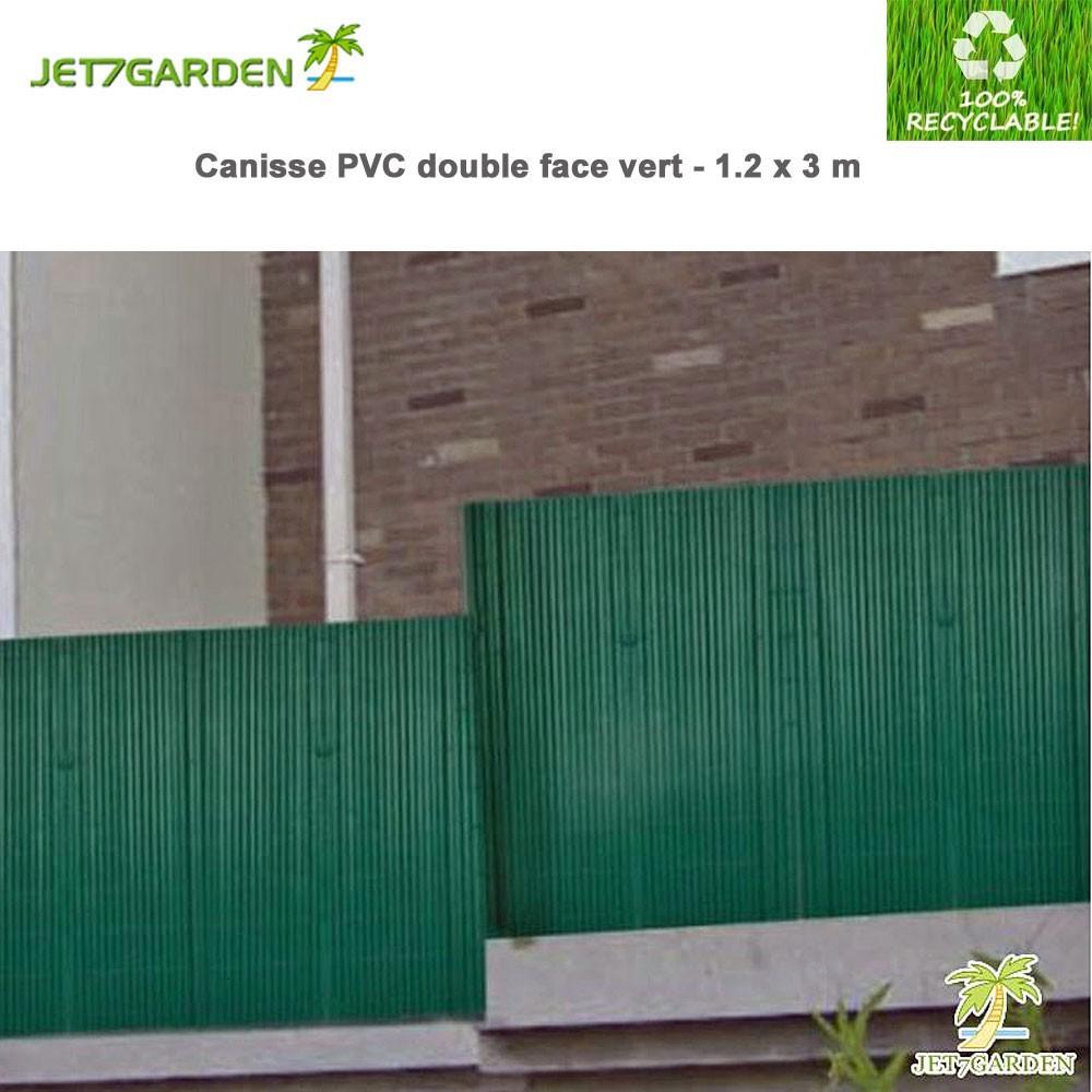 canisse pvc vert double face x 3 m j7gcv120. Black Bedroom Furniture Sets. Home Design Ideas