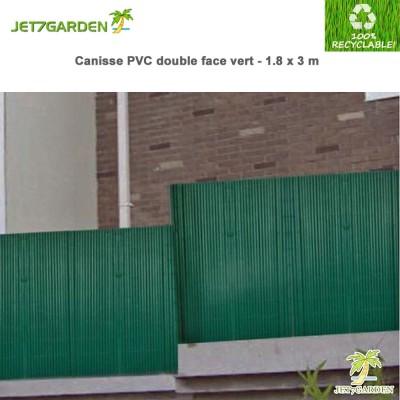 Canisse PVC vert double face 1.80 x 3 m