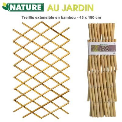 Treillis en bambou à croisillons extensibles 45 x 180 cm