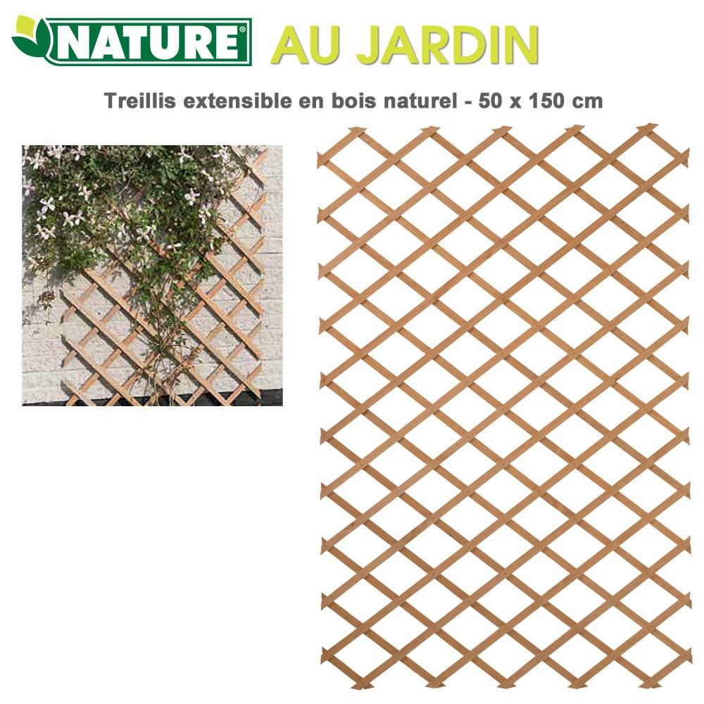 treillis en bois naturel extensibles 50 x 100 cm 6041701. Black Bedroom Furniture Sets. Home Design Ideas