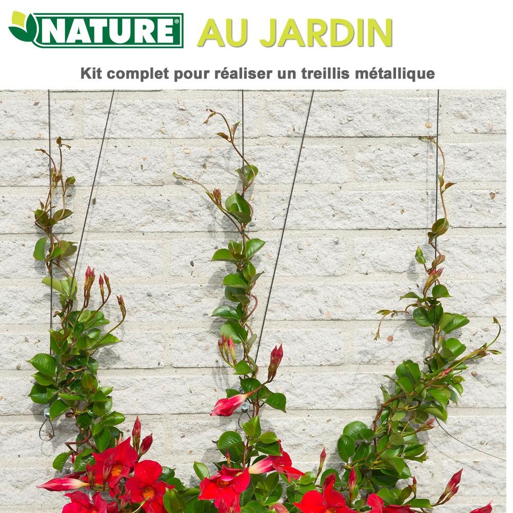 Treillis m tallique invisible en kit dia 1 8 mm x 10 m 6040760 n - Treillis metallique jardin ...