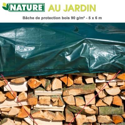 Bâche à bois polyétylène 90 gr/m² - 5 x 6 m