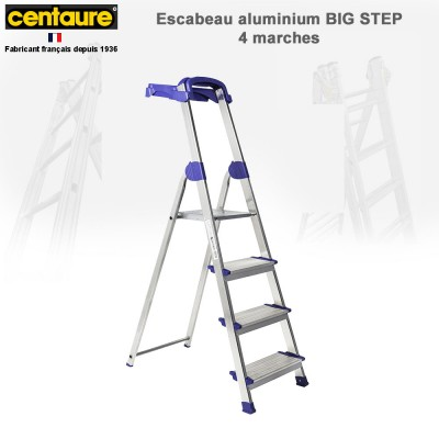Escabeau aluminium Big Step de 4 à 6 marches