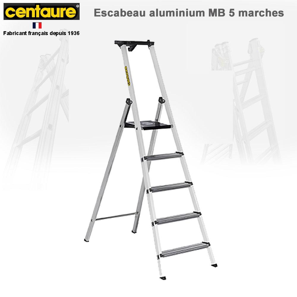 escabeau aluminium mb de 3 8 marches 238203 cent. Black Bedroom Furniture Sets. Home Design Ideas