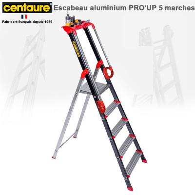 Escabeau aluminium Pro' Up de 5 à 8 marches