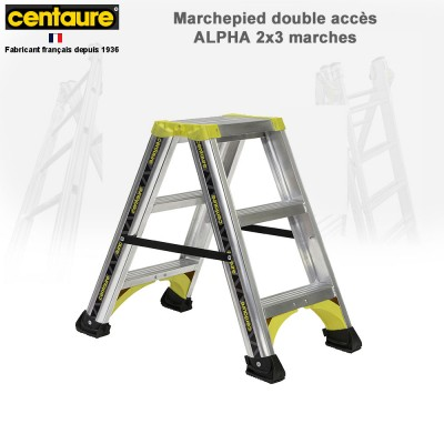 Marchepied aluminium Alpha - de 2x3 à 2x8 marches