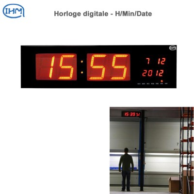 Horloge digitale 230 x 830 mm