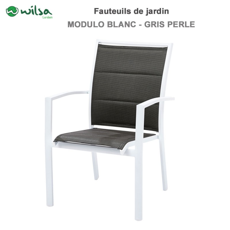 fauteuil de jardin modulo blanc 114 50. Black Bedroom Furniture Sets. Home Design Ideas