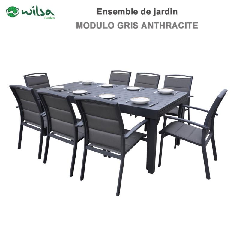 Salon Modulo 812 Anthracite De Gris Jardin Places MpLSqzGUV