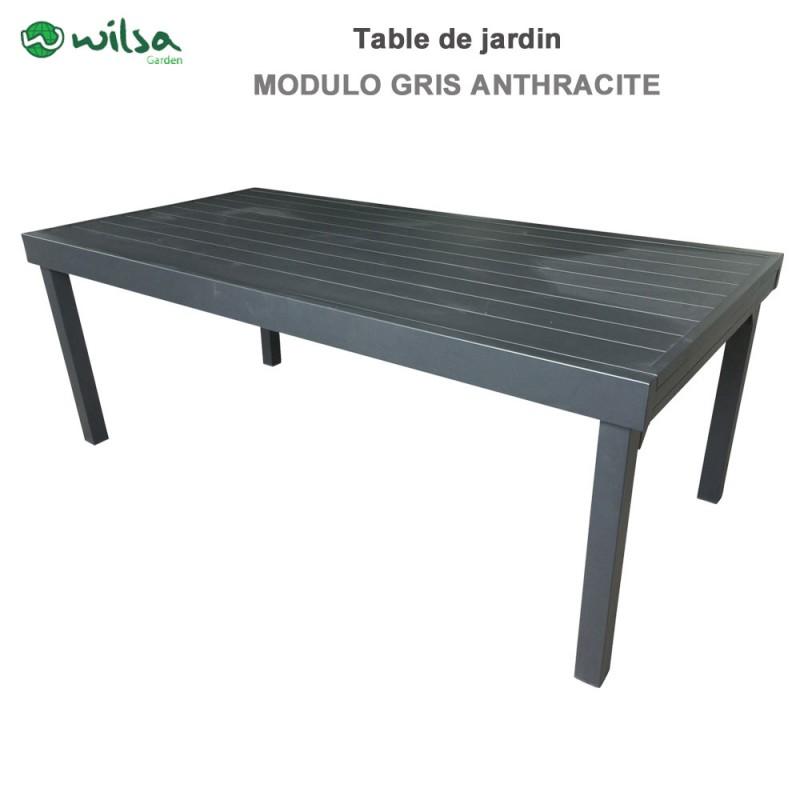 table de jardin modulo 8 12 places gris anthracite600260 wilsa garden. Black Bedroom Furniture Sets. Home Design Ideas