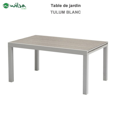 Table de jardin Tulum 6/10 places blanche