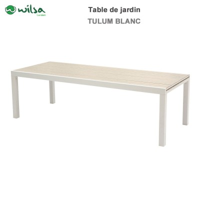 Table de jardin Tulum 10/14 places blanche