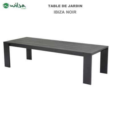 Table de jardin Ibiza fixe 6/8 places noir