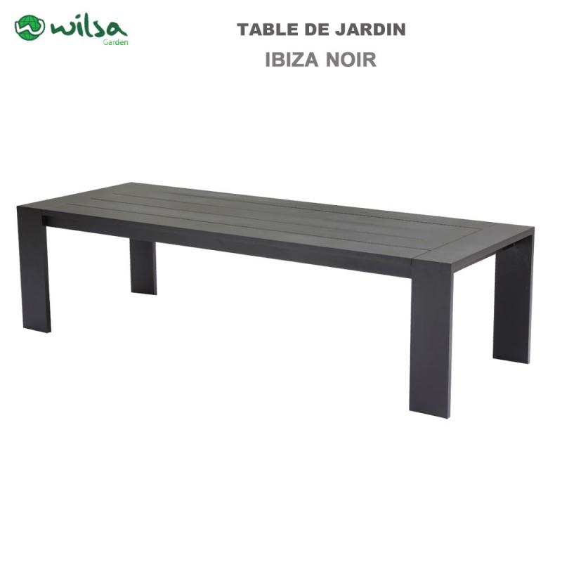 table de jardin ibiza fixe 6 8 places noir600490 wilsa garden. Black Bedroom Furniture Sets. Home Design Ideas