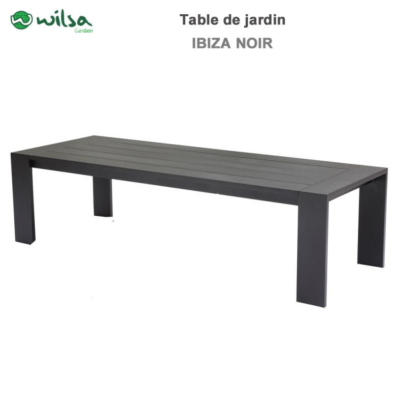 table de jardin ibiza fixe 8 10 places noir600495 wilsa garden. Black Bedroom Furniture Sets. Home Design Ideas
