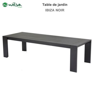 Table de jardin Ibiza fixe 8/10 places noir