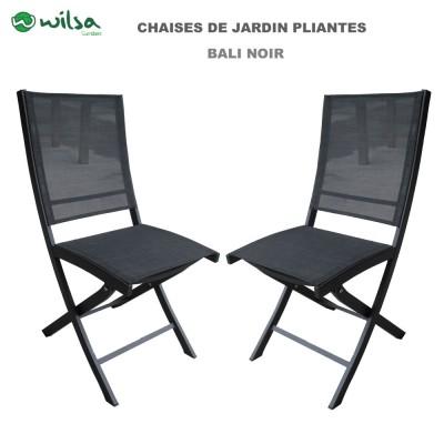 Chaise de jardin pliante Bali noir