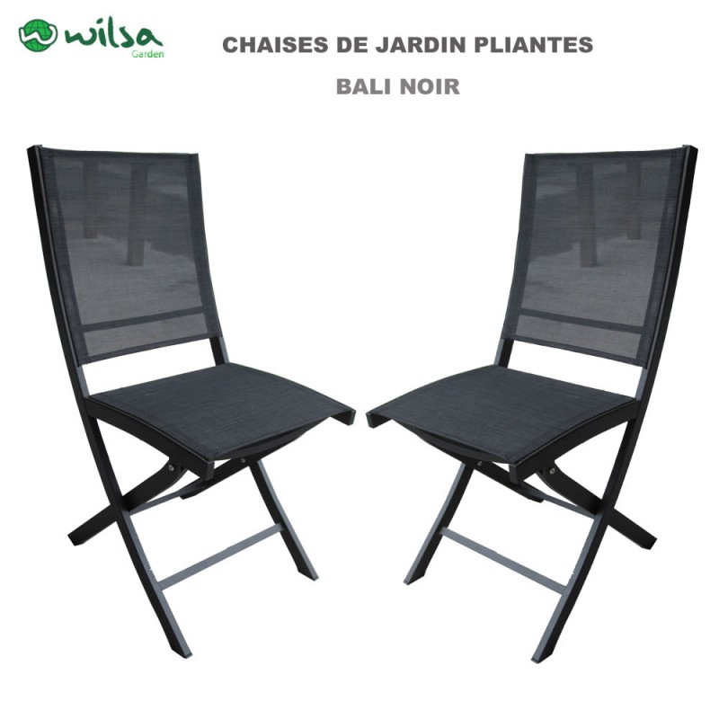 chaise de jardin pliante bali noir 149 00. Black Bedroom Furniture Sets. Home Design Ideas
