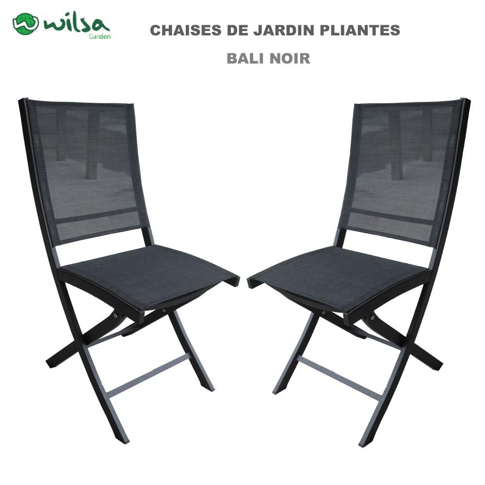 chaise de jardin pliante bali noir 149 00. Black Bedroom Furniture Sets. Home Design Ideas