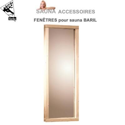 Fenêtre de sauna Baril - L.30 X H.66.5 cm