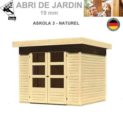 Abri de jardin bois Askola 3 naturel - 242x217