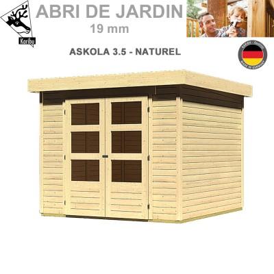 Abri de jardin bois Askola 3.5 naturel - 242x246