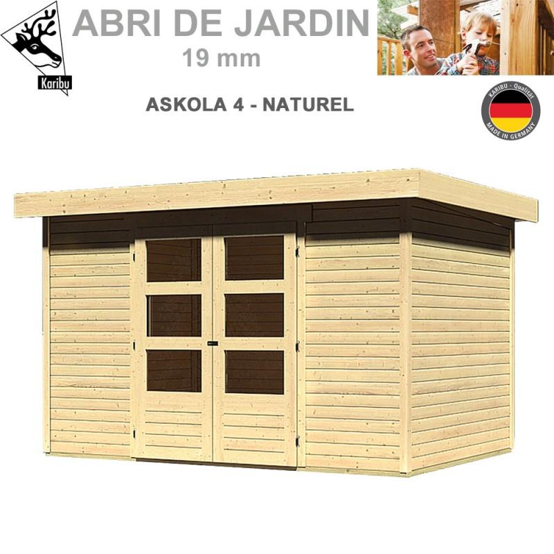 Abri de jardin bois Askola 4 naturel - 302x217