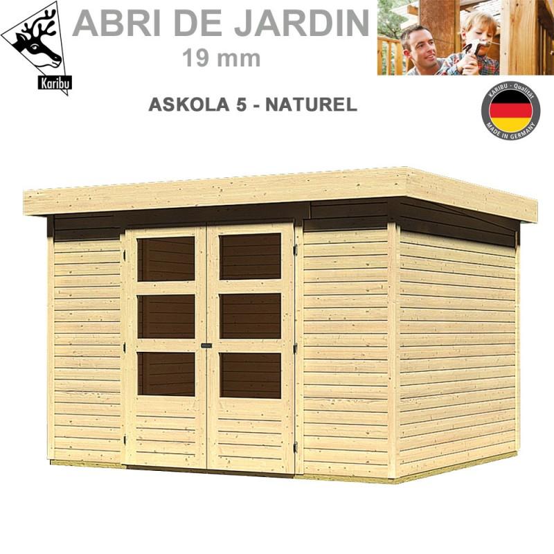 Abri de jardin bois Askola 5 naturel - 302x246