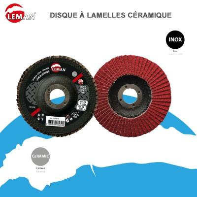 Disque à lamelles céramique - Inox - 10 pces