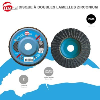 Disque à doubles lamelles zirconium - Inox - 10 pces