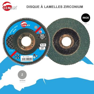 Disque à lamelles zirconium - Inox - 10 pièces