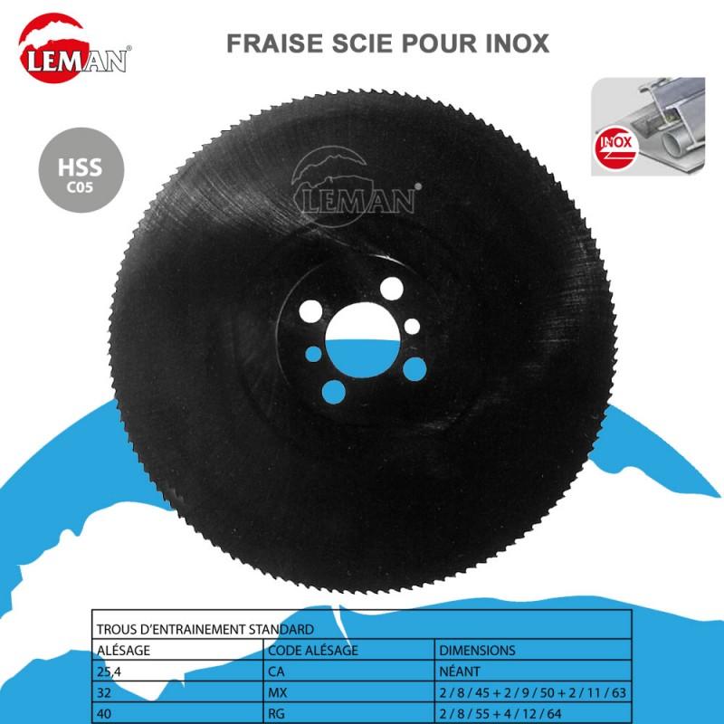 Fraise scie circulaire 122C05 Inox