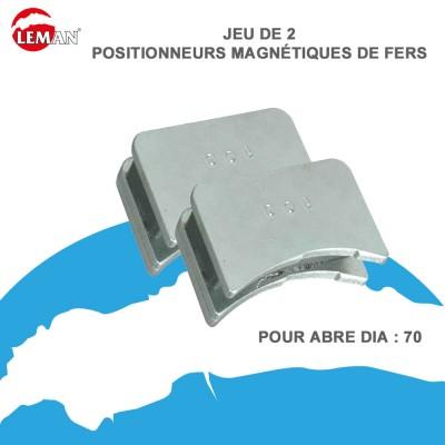 Jeu de 2 positionneurs magnétiques de fers 70 mm