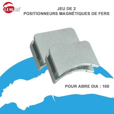 Jeu de 2 positionneurs magnétiques de fers 100 mm