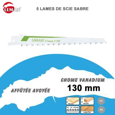 Lames de scie sabre - bois dur - 130 mm - 5 Pièces
