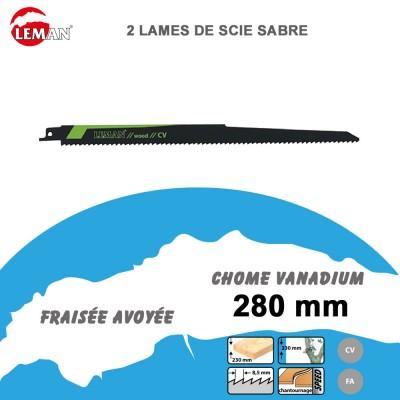 Lames de scie sabre - élagage - 280 mm - 2/5 pièces