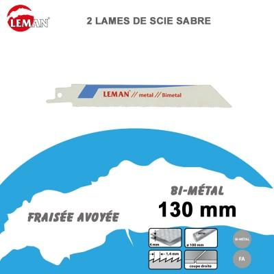 Lames de scie sabre bi-métal - 130 mm - 2/5 Pcs
