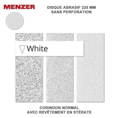 Disque abrasif  225 mm White 5 ou 25 pièces