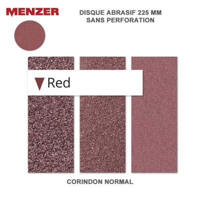 Disque abrasif  225 mm Red 2 -5 ou 25 pièces