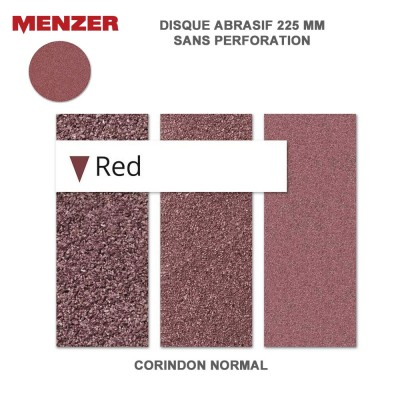 Disque abrasif  225 mm Red 2 -5 ou 25 pièces