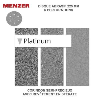 Disque abrasif  225 mm-6 trous-Platinium 5 ou 25 pièces