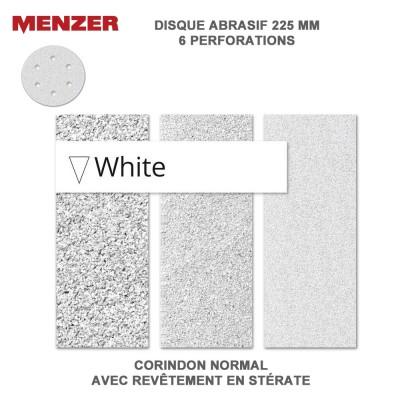 Disque abrasif  225 mm-6 Trous-White 5 ou 25 pièces