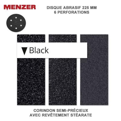 Disque abrasif  225 mm-6 Trous-Black 2 ou 10 pièces