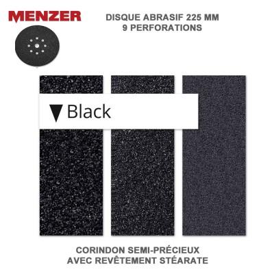 Disque abrasif  225 mm-9 Trous-Black 10 pièces