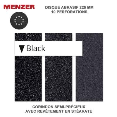 Disque abrasif  225 mm-10 Trous-Black 10 pièces