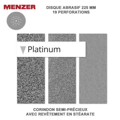 Disque abrasif  225 mm-19 Trous-Platinium 25 pièces